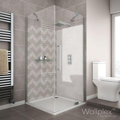 Wallplex fürdőszobai falburkolo halszálka minta