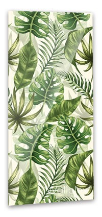 Zöld pálmalevelek fürdőszobapanel