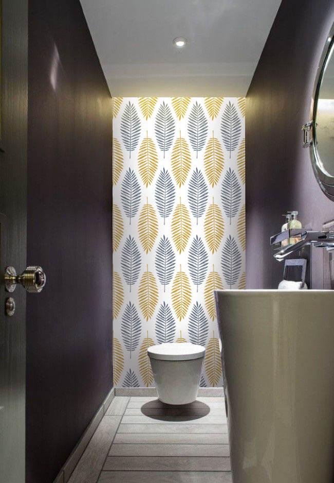 Wallplex fürdőszobai dekorpanel Trópusi levelek mellékhelyiség