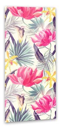 Trópusi virágok pink fürdőszobapanel