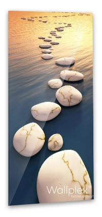 Zen kövek fürdőszobapanel