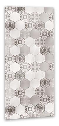 barna hexagon fürdőszobapanel