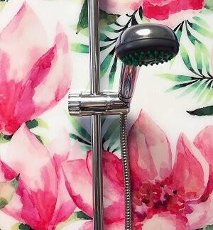 egzotikus virágok akvarell zuhany wallplex