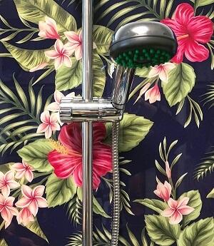 fekete hibiszkus zuhany wallplex