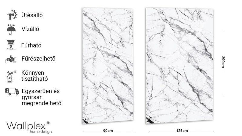 wallplex falburkoló fehér márvány termékadatlap