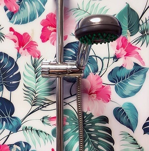 rozsaszín hibiszkus zuhany wallplex