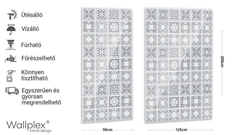 Wallplex falburkoló szürke csempék termékadatlap