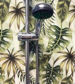 zöld pálmalevelek zuhany wallplex